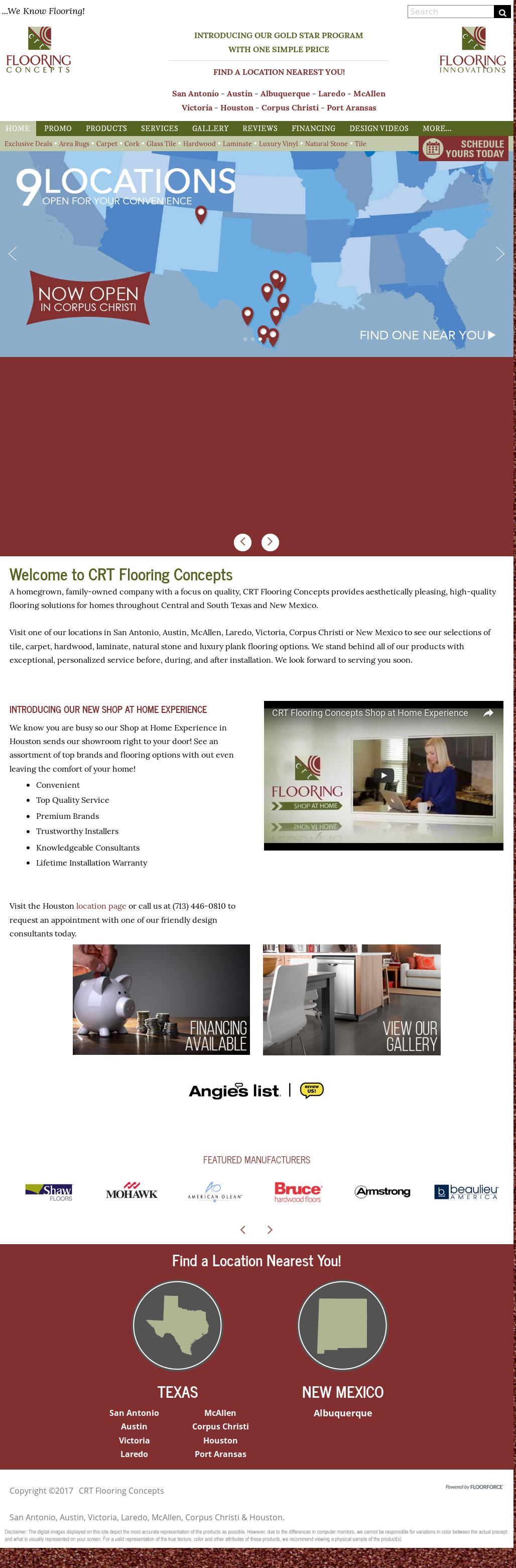 Crt Flooring Concepts Website History