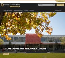 University of Colorado Denver website history