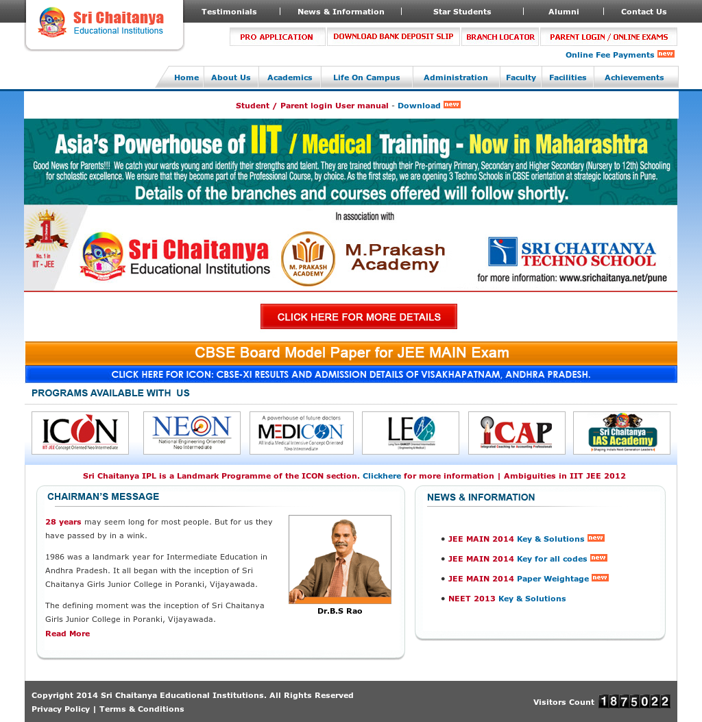 Sri Chaitanya Educational Institutions Competitors, Revenue and