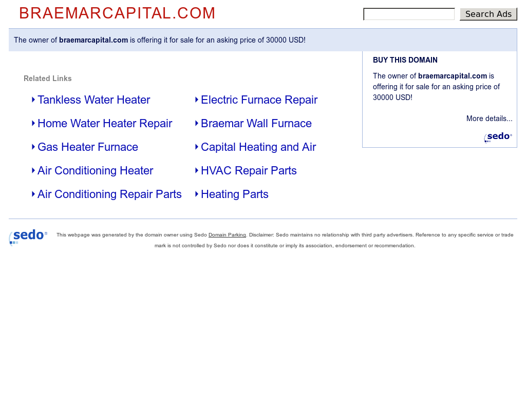 Braemar Capital Website History