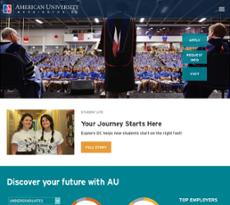 American University website history