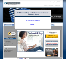 Valley Business Bank website history