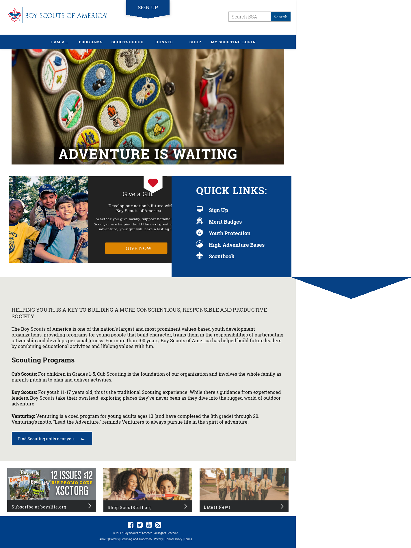 Boy Scouts of America Competitors, Revenue and Employees