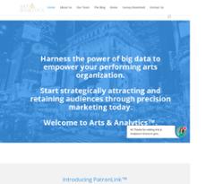 Arts  website history