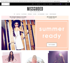 Missguided website history