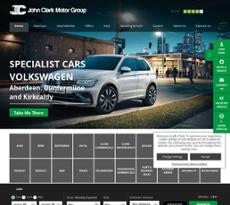 The John Clark Motor Group's website screenshot on Sep 2017