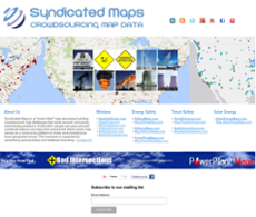 Syndicated Maps website history