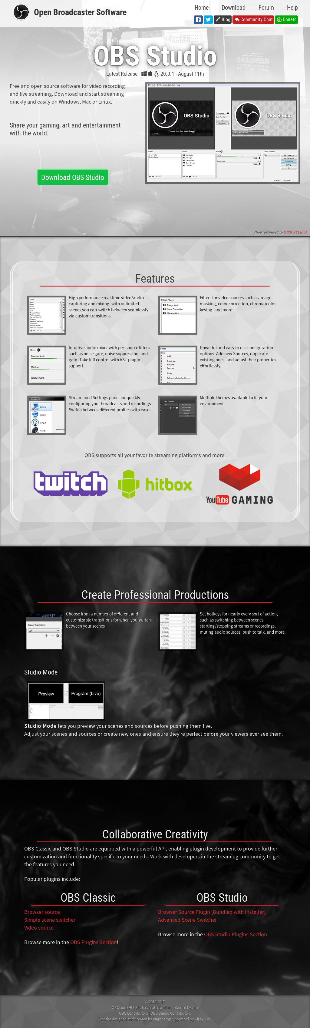 Open Broadcaster Software Competitors, Revenue and Employees