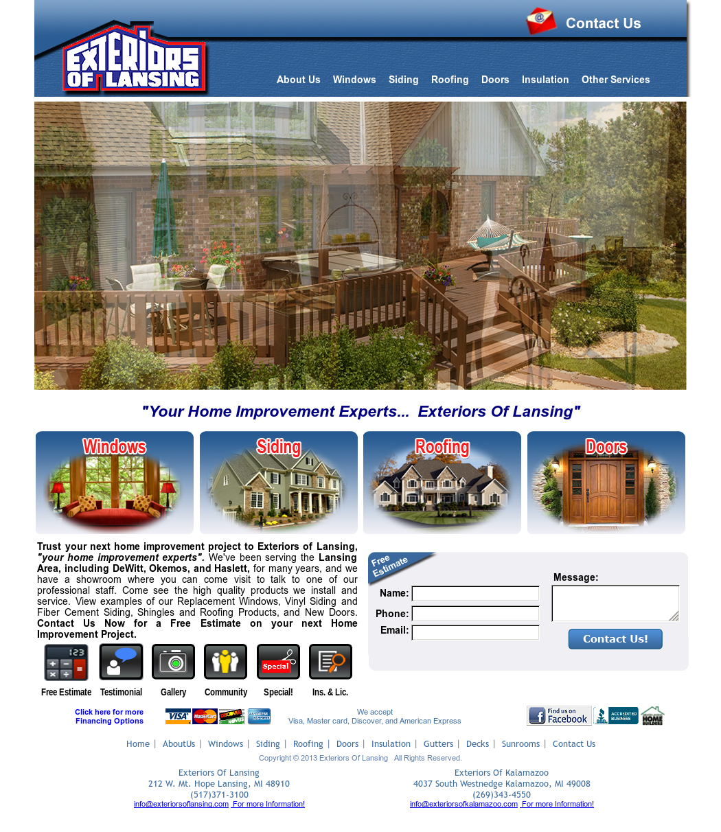 Charming Exteriors Of Lansing Website History