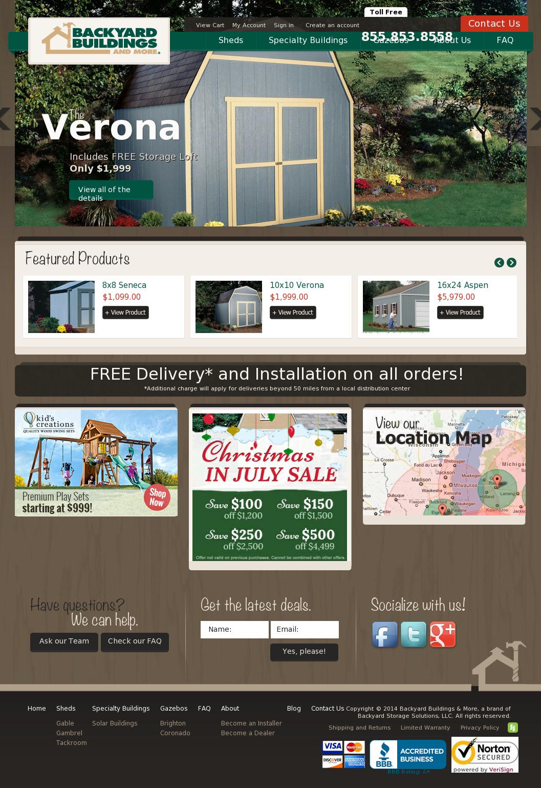 Backyard Buildings U0026 More Website History