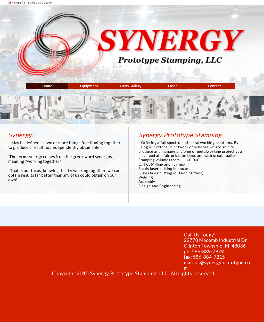 Synergy Prototype Stamping Competitors, Revenue and
