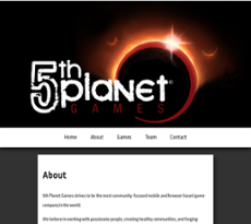 5th Planet website history