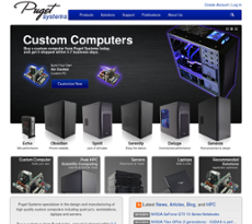 Puget Systems website history