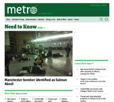 Metro US website history