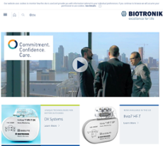 Biotronik website history