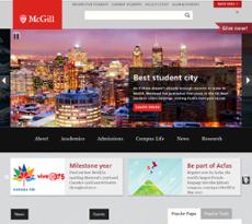 McGill website history