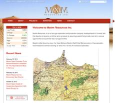 Maxim Resources website history