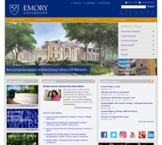 Emory website history
