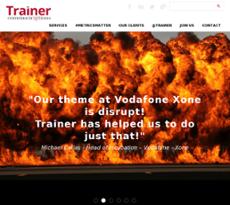 Trainer Communications website history