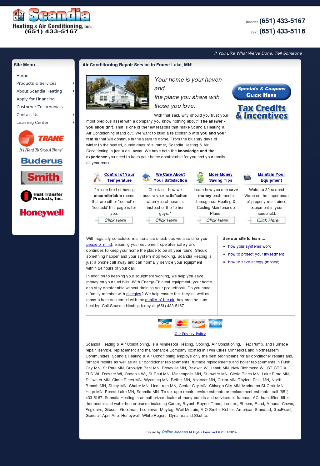 Scandia Heating Air Conditioning Compeors Revenue And Employees Owler Company Profile