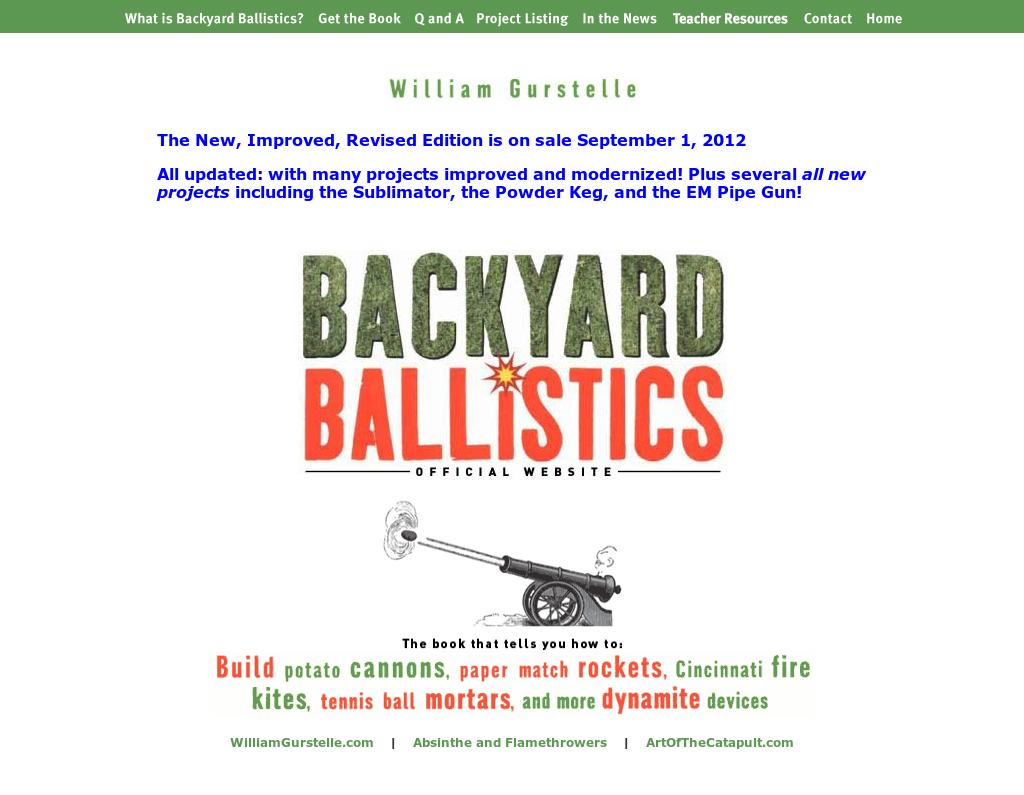 Backyard Ballistics Book backyard ballistics competitors, revenue and employees - owler