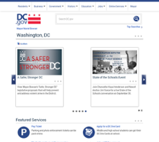 The Department of General Services website history
