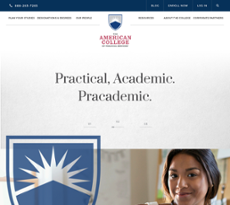 The American College website history