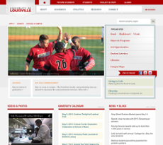 University of Louisville website history
