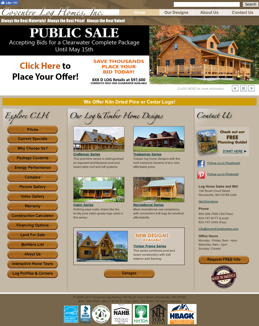 Coventry Log Homes Competitors, Revenue and Employees
