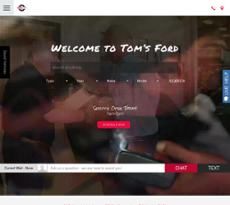 Tom's Ford website history