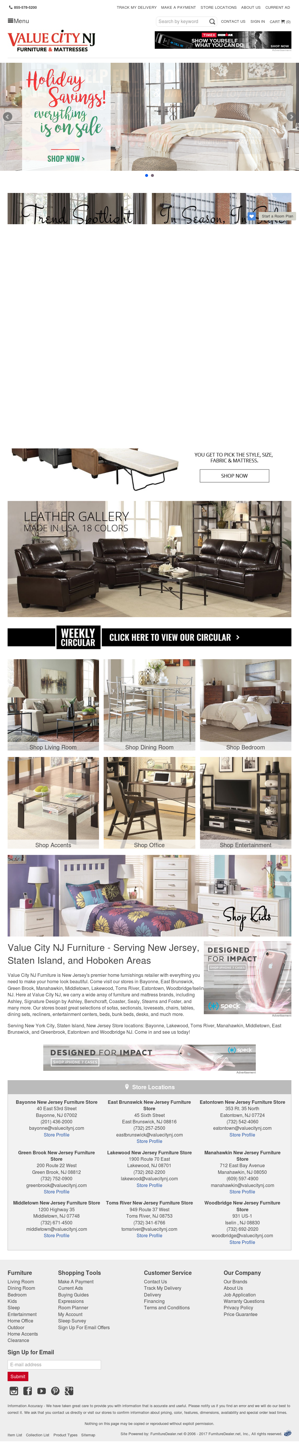 Value City Furniture Website History