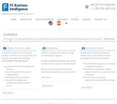 FC Business Intelligence website history
