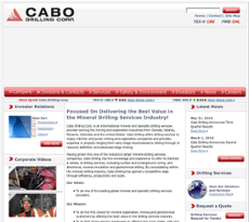 Cabo Drilling website history