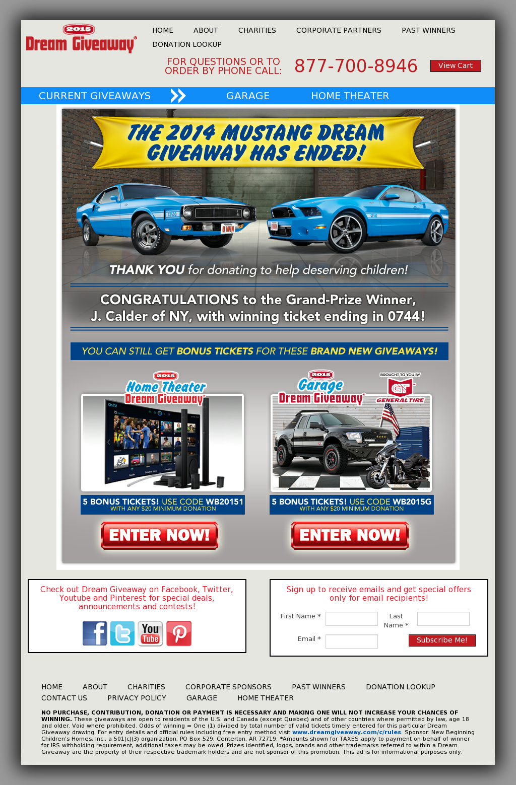 Mustang Dream Giveaway Competitors, Revenue and Employees