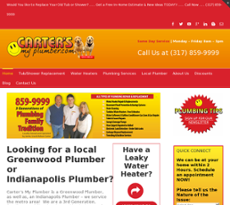 Carter's My Plumber website history