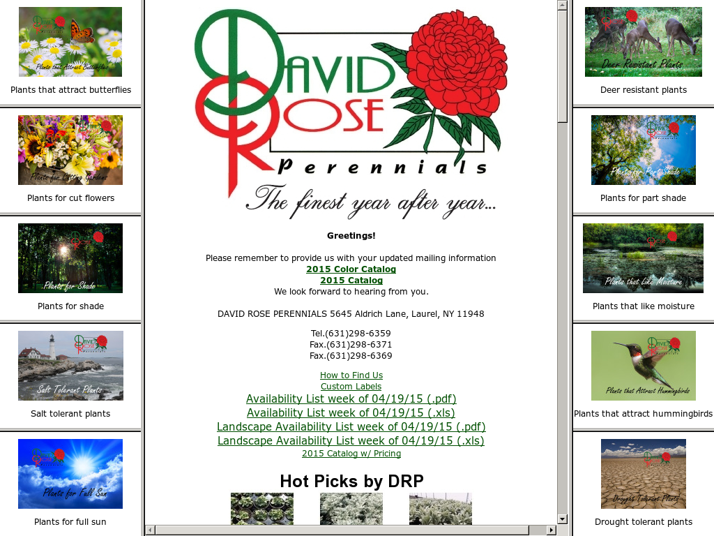 David Rose Perennials Compeors Revenue And Employees Owler Company Profile