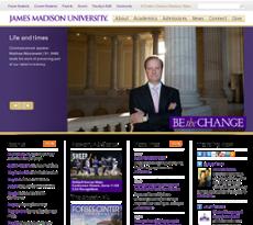 James Madison University website history