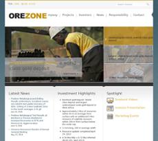 Orezone Gold website history