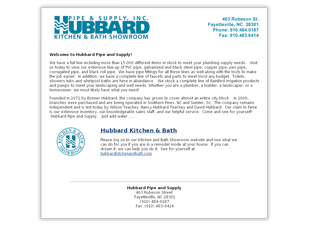 Hubbard Pipe And Supply Compeors Revenue Employees Owler Company Profile