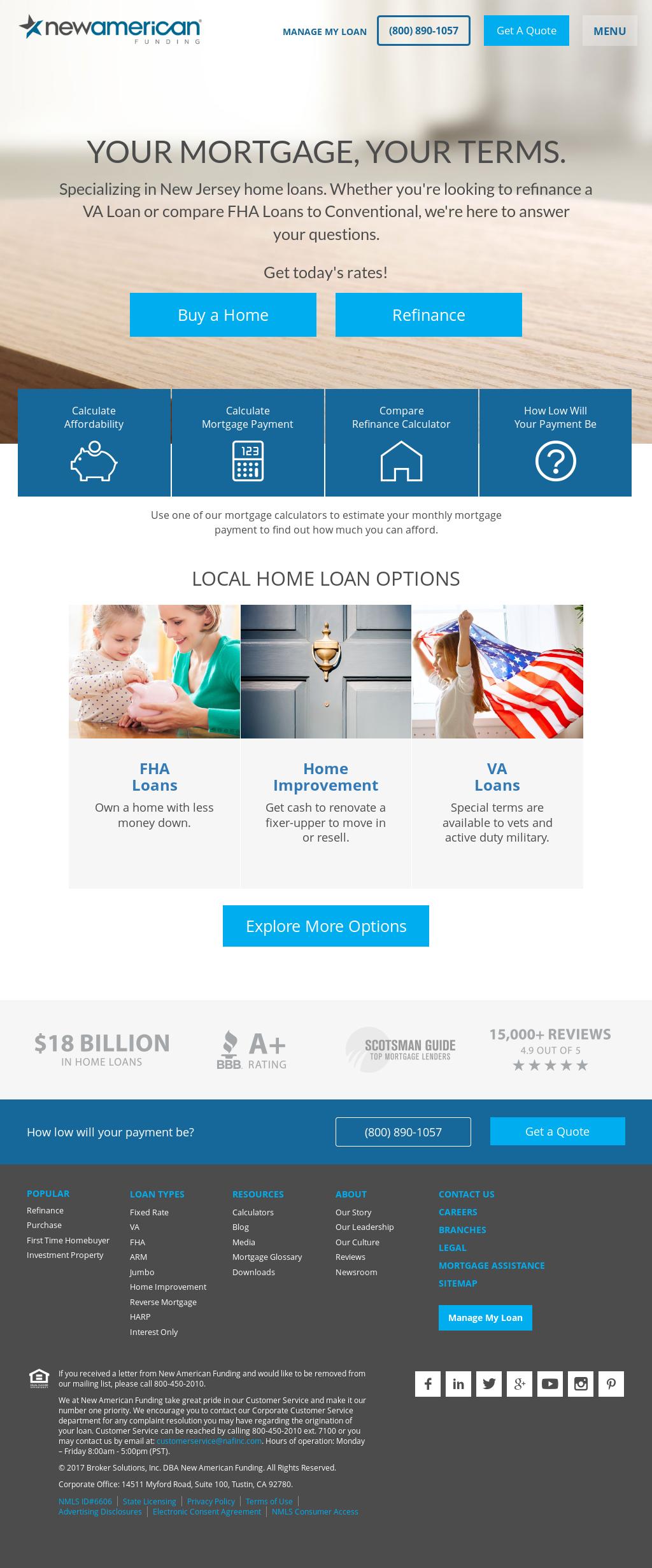 new american funding website history