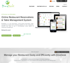 DineDesk website history
