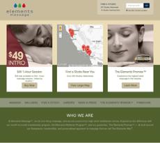 Elements Massage website history
