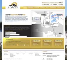 Aldrin Resource website history