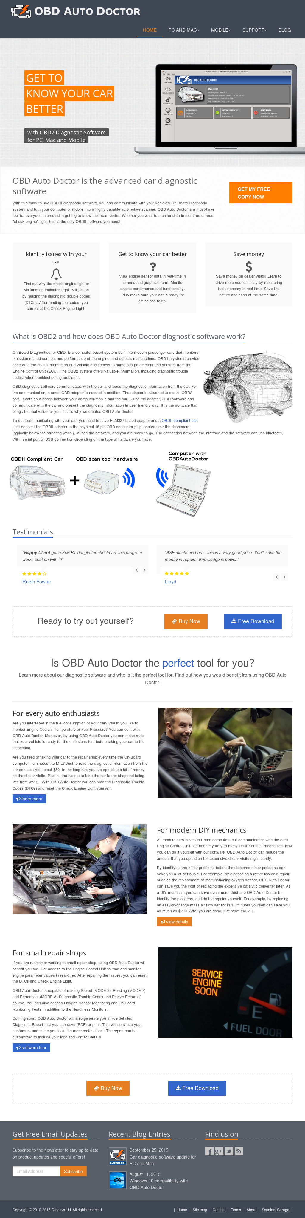 Owler Reports - OBD Auto Doctor Blog OBD2 parameters added
