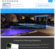 Swimming Pool Services website history