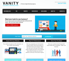 Vanity Global website history