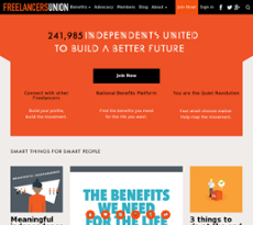 Freelancers Union website history