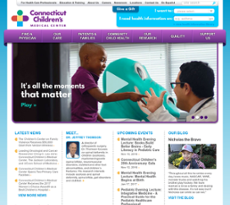 Connecticut Children's website history