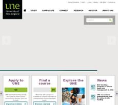 UNE website history