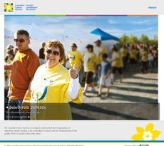 Canadian Cancer Society website history
